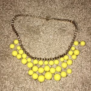 Yellow and gold necklace